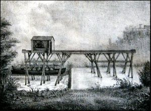 The rolling bridge (period engraving) 21 Ko